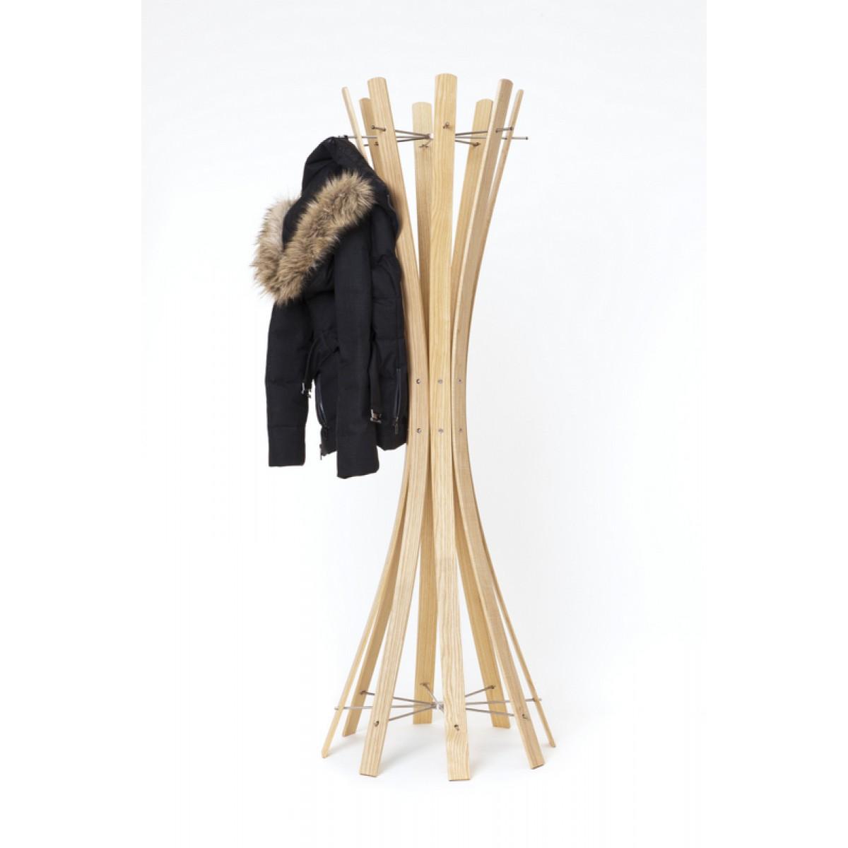 garderobenst nder aus holz massiv und edelstahl moderne garderobe mit hacken aus edelstahl 58 cm. Black Bedroom Furniture Sets. Home Design Ideas