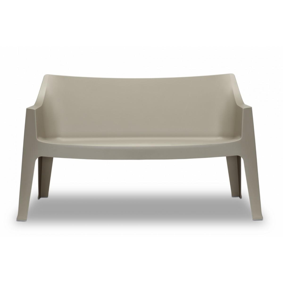 Design Bank Kunststoff grau Outdoor geeignet