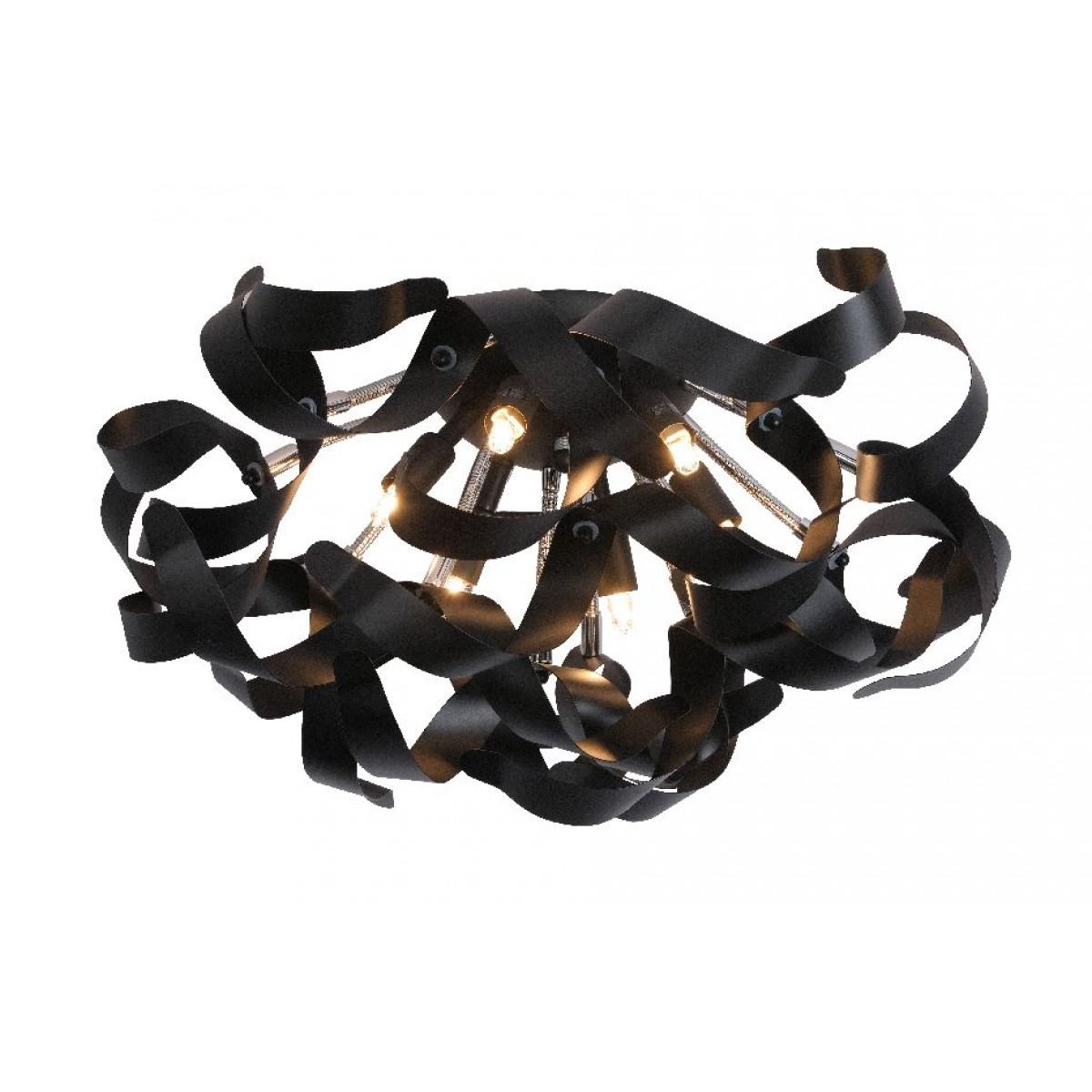 led deckenleuchte schwarz led deckenlampe schwarz durchmesser 50 cm. Black Bedroom Furniture Sets. Home Design Ideas