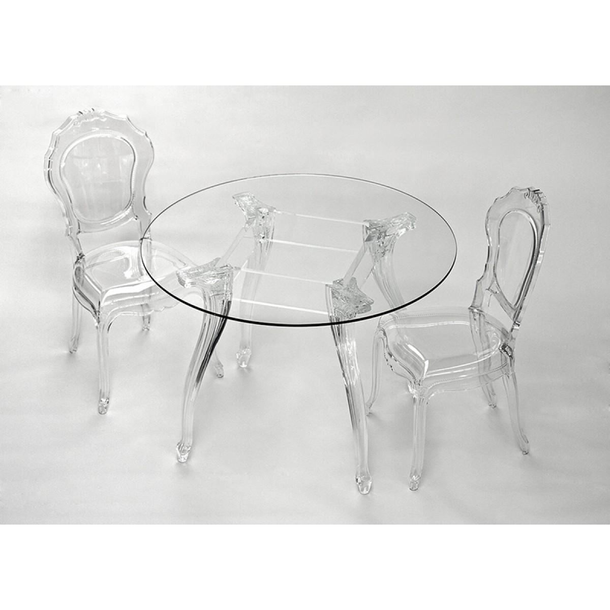 tisch rund glas und policarbonat esstisch rund barock tischplatte glas durchmesser 100 cm. Black Bedroom Furniture Sets. Home Design Ideas