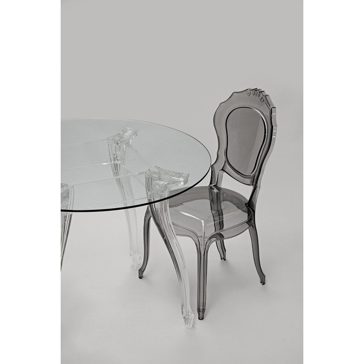 tisch rund glas und policarbonat esstisch rund barock tischplatte glas durchmesser 110 cm. Black Bedroom Furniture Sets. Home Design Ideas