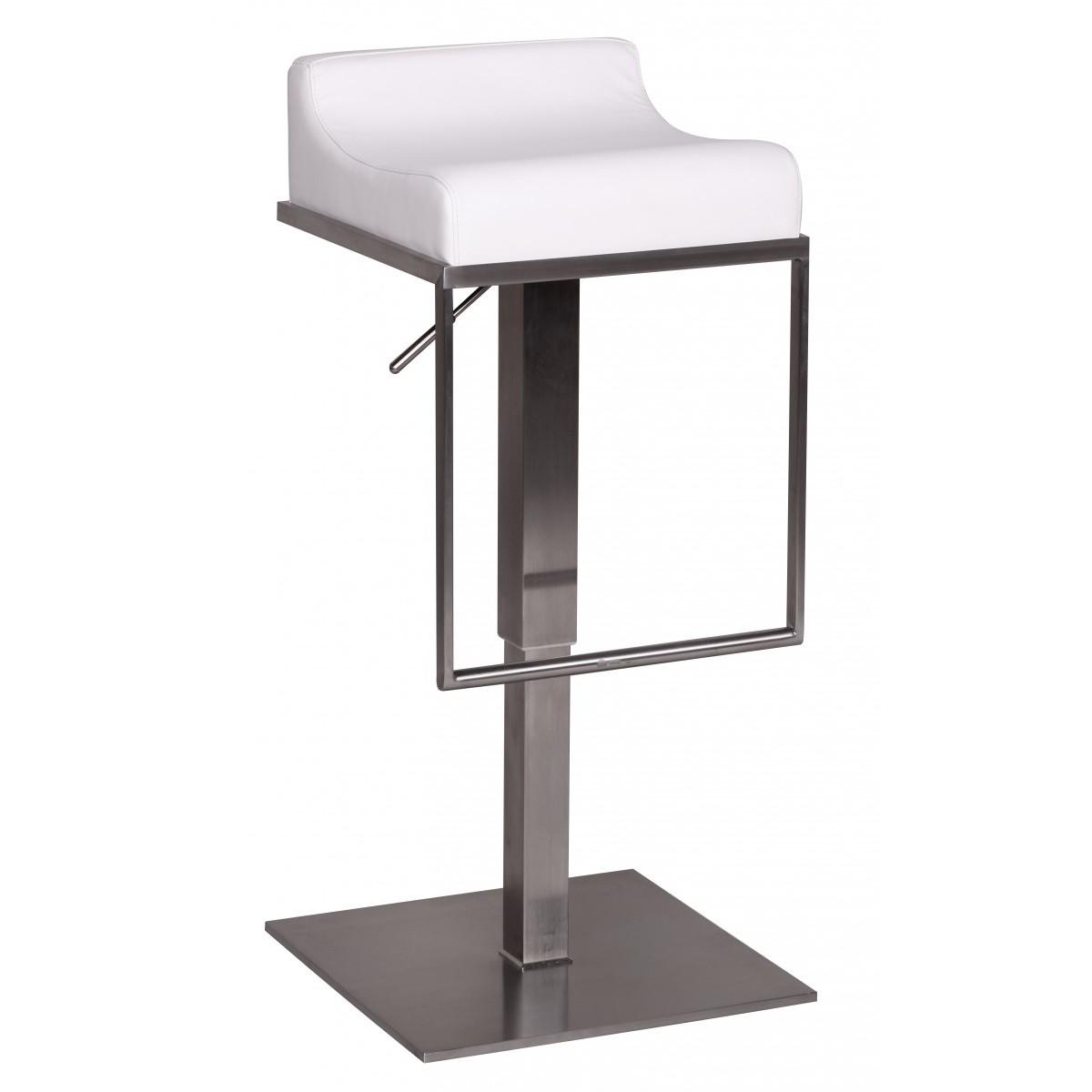 barhocker wei edelstahl barstuhl farbe silbern wei. Black Bedroom Furniture Sets. Home Design Ideas