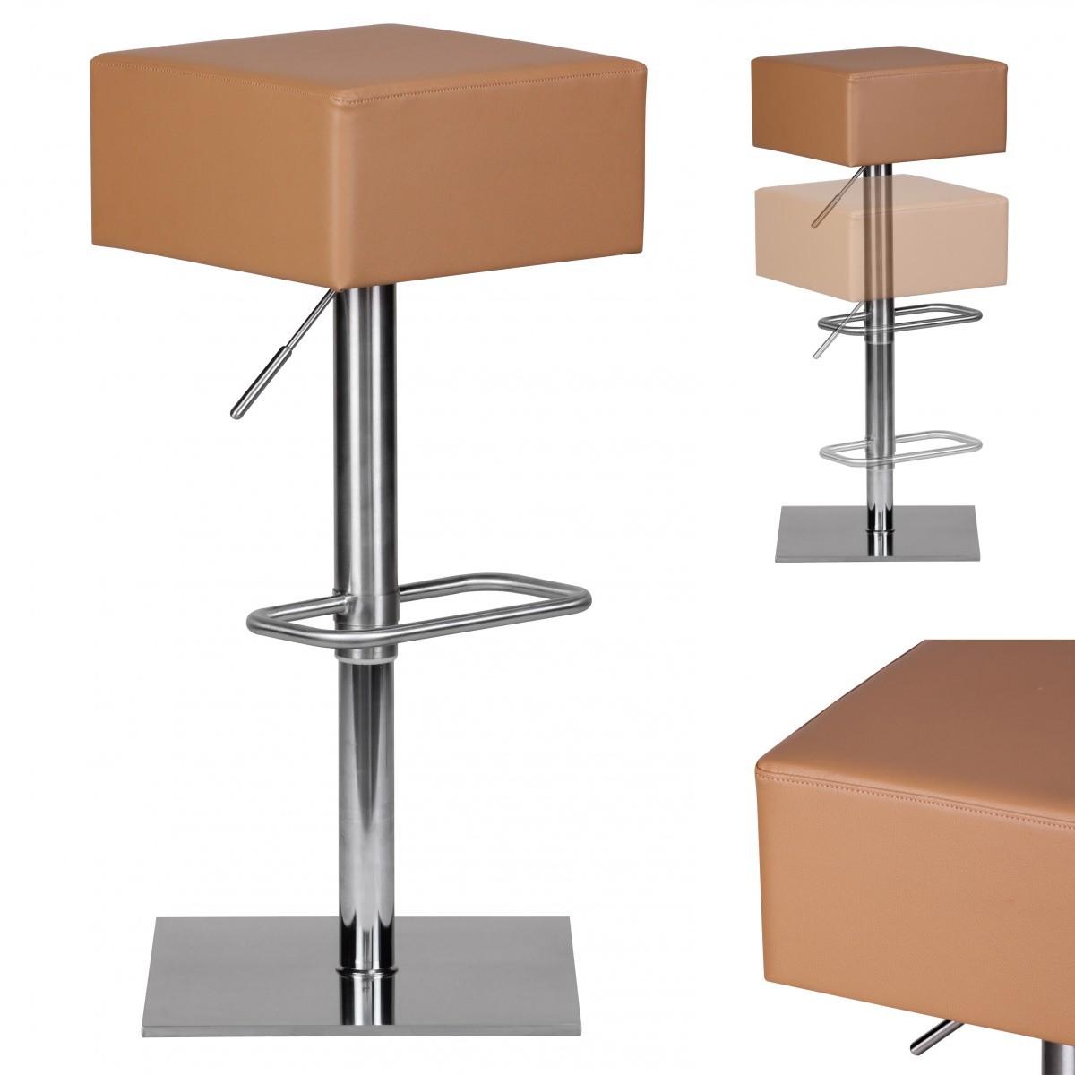 barhocker edelstahl barstuhl farbe caramel. Black Bedroom Furniture Sets. Home Design Ideas