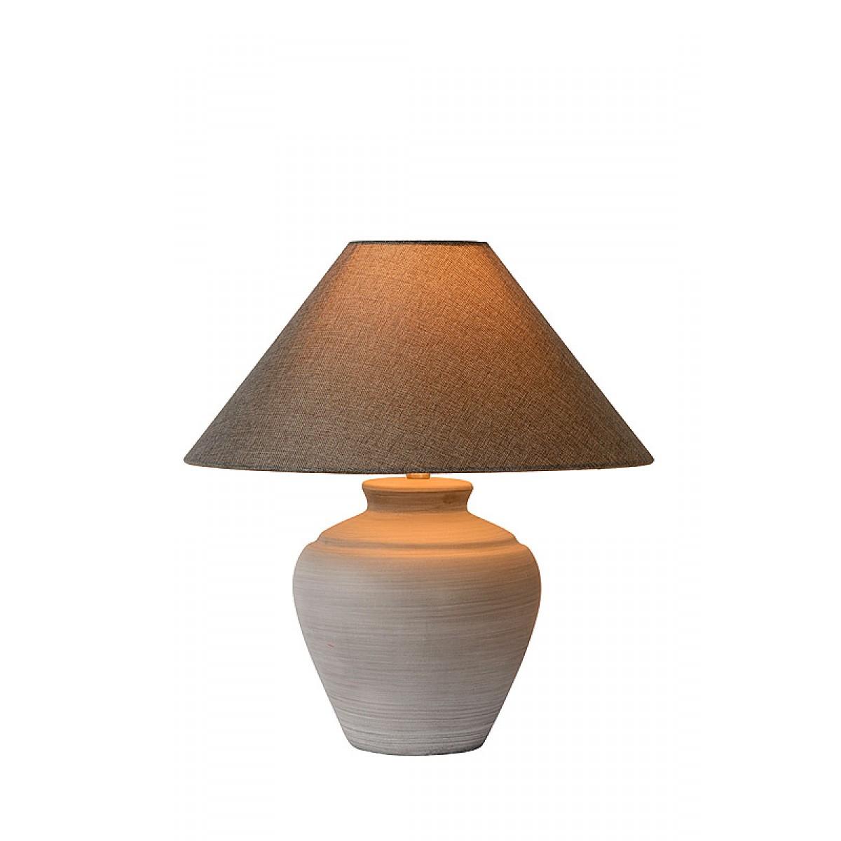 tischleuchte grau mit lampenschirm durchmesser 30 cm. Black Bedroom Furniture Sets. Home Design Ideas