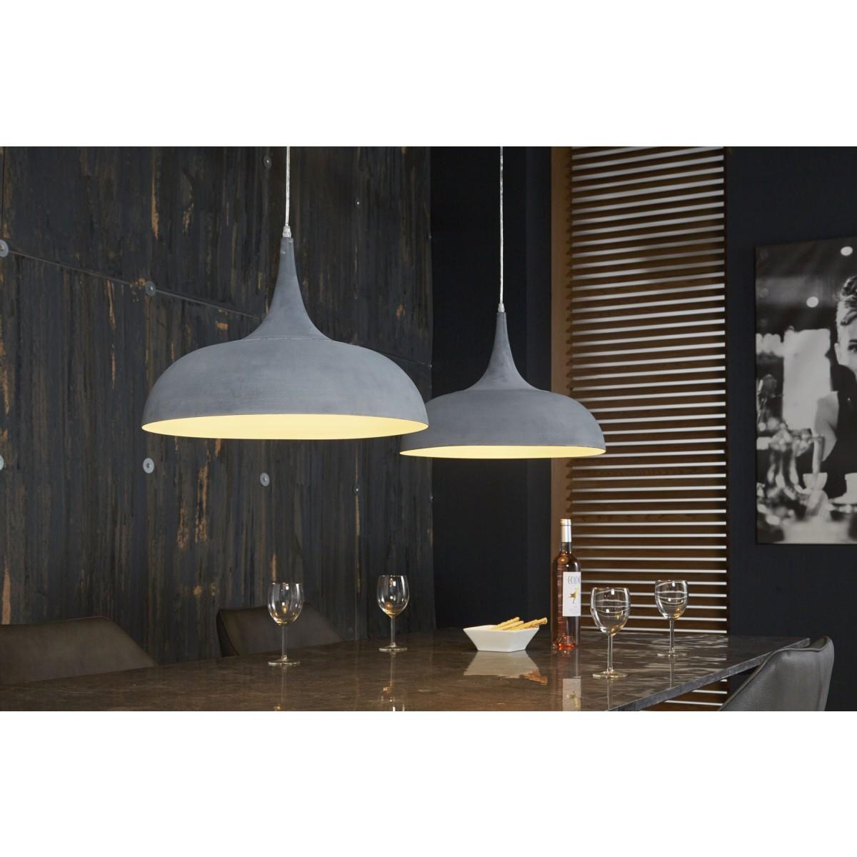 pendellampe grau metall h ngelampe betonoptik h ngeleuchte grau breite 140 cm. Black Bedroom Furniture Sets. Home Design Ideas