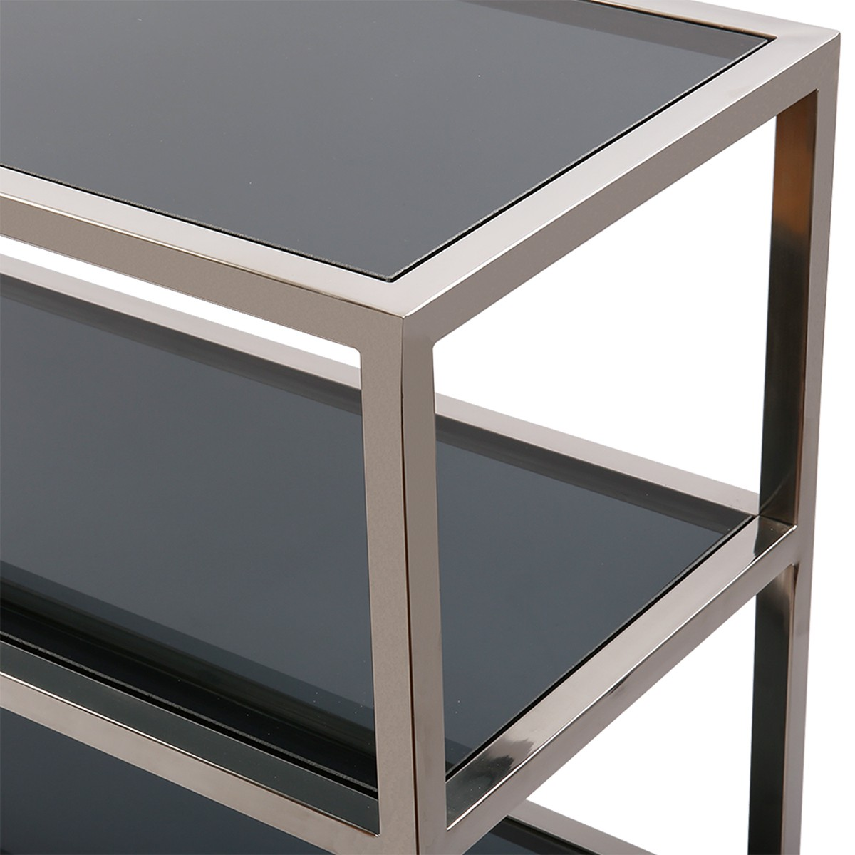sideboard glas metall wandtiisch verchromt metall glasplatte breite 160 cm. Black Bedroom Furniture Sets. Home Design Ideas