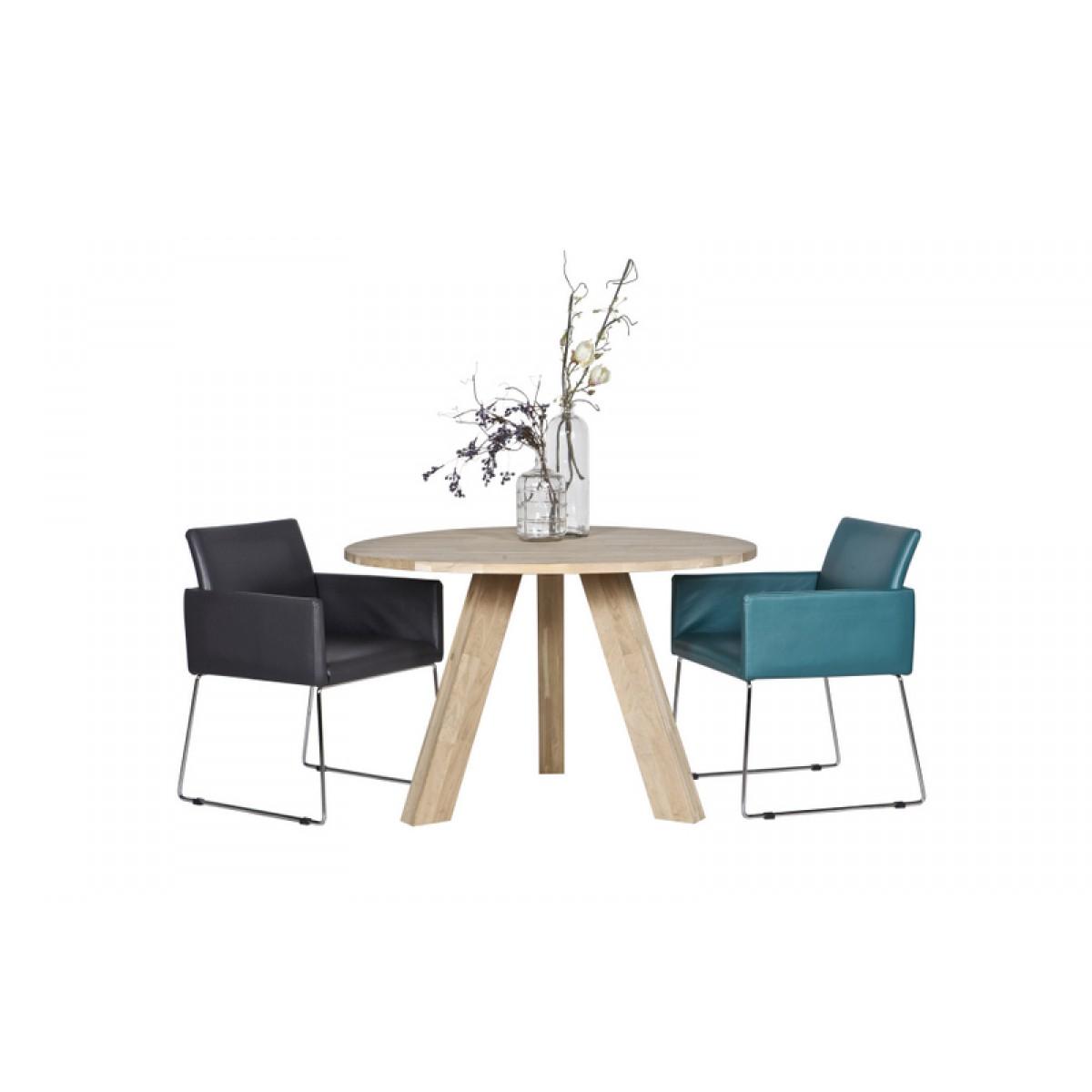 Tisch rund massivholz esstisch rund eiche natur massiv for Massivholz tisch rund