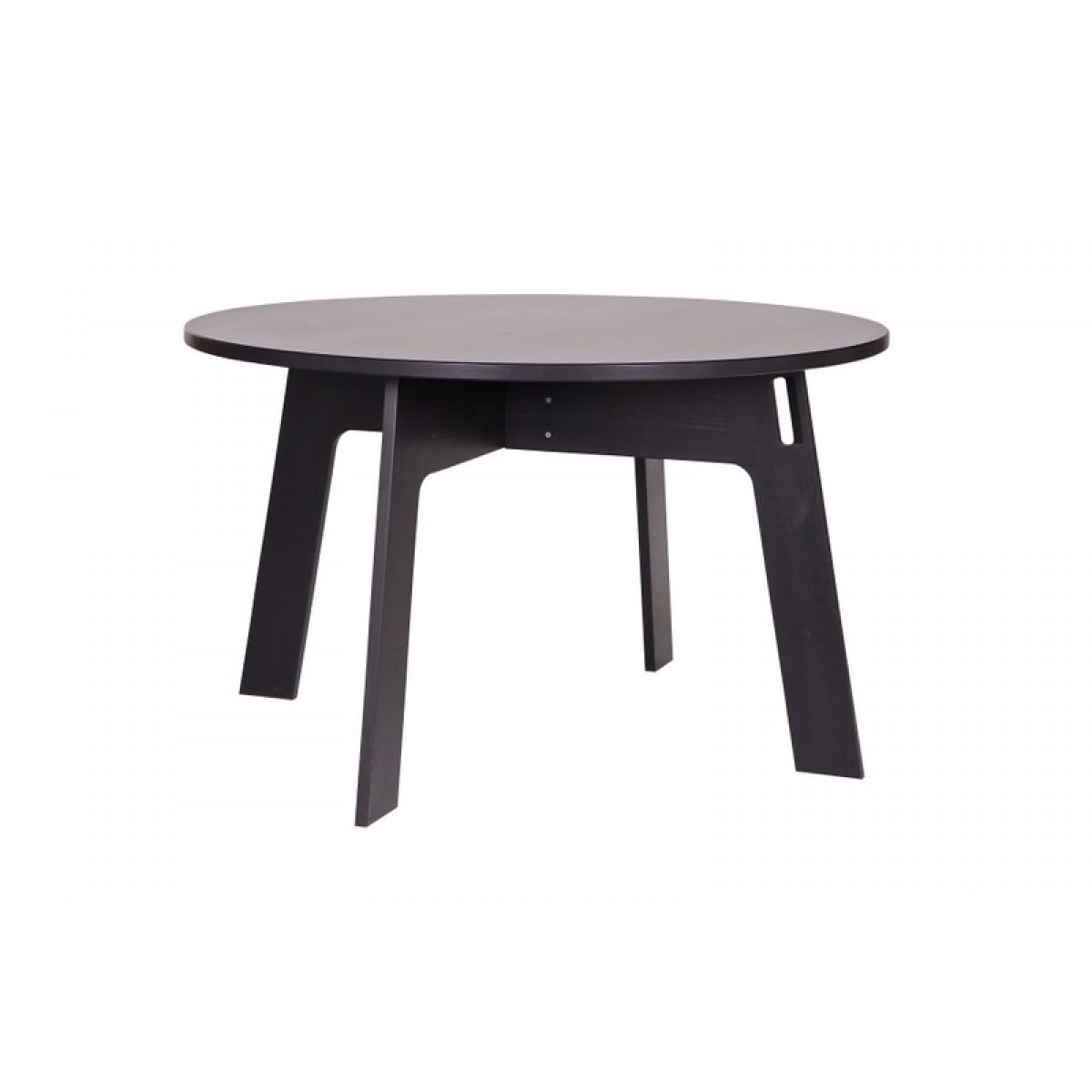 Brilliant Esstisch Rund Massiv Ideen Von Tisch Schwarz Massivholz, Schwarz Massiv, Durchmesser 129