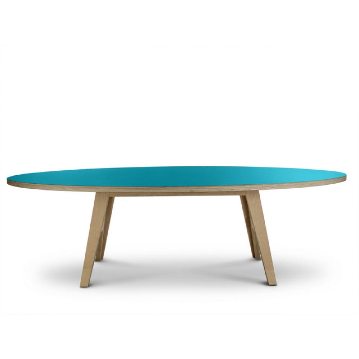 Ovaler design tisch farbe t rkis for Designer esstisch oval