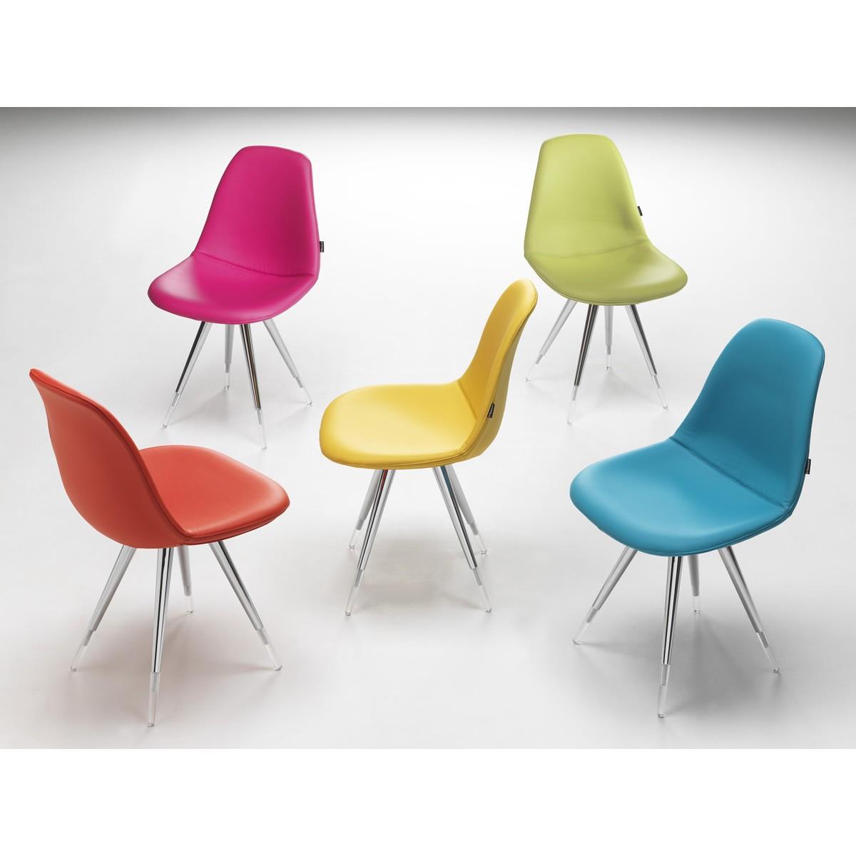 designstuhl gepolstert in verschiedenen farben. Black Bedroom Furniture Sets. Home Design Ideas