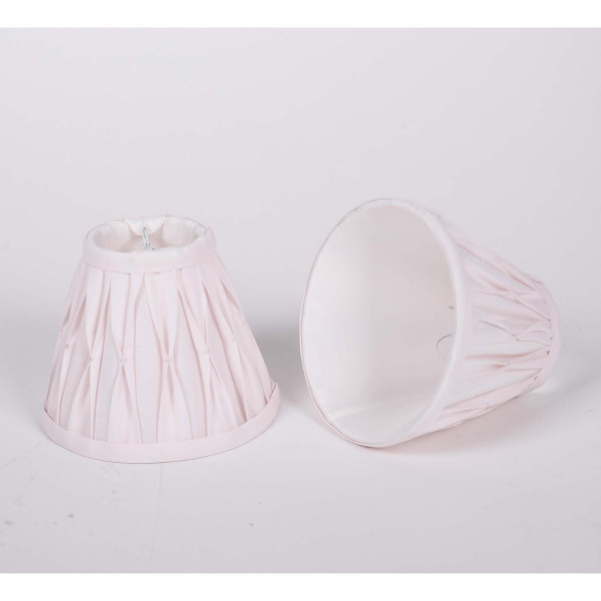 KIemmschirm Farbe rosa, Lampenschirm für Kronleuchter, Form rund Ø ...