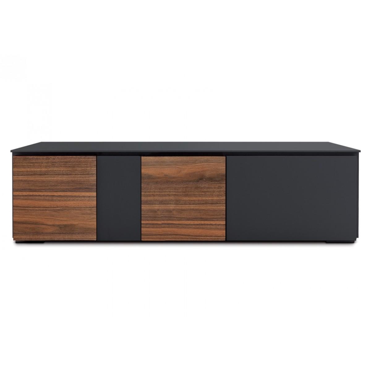 Lowboard Walnuss lowboard schwarz walnuss tv schrank mit vier türen 180 cm