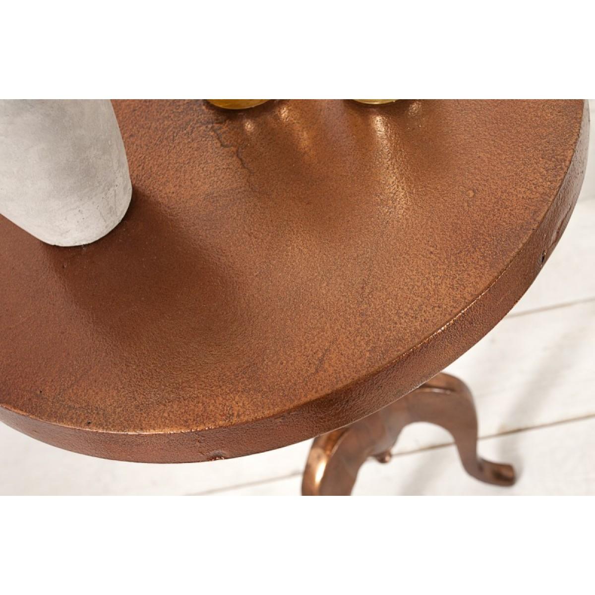 Beistelltisch rund metall kupfer metall barock for Beistelltisch kupfer