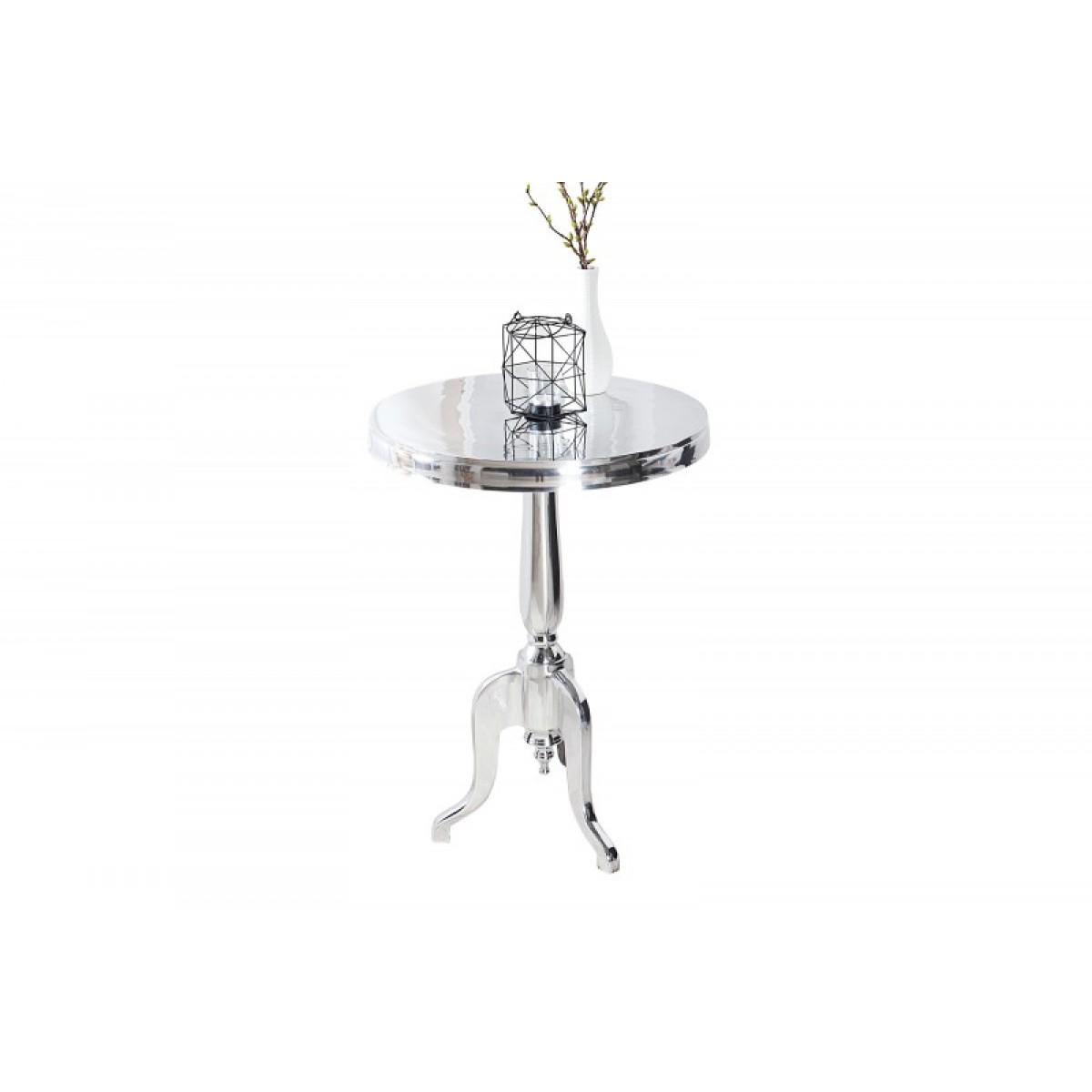 tisch rund silber barock bistrotisch aluminium silber 55 cm. Black Bedroom Furniture Sets. Home Design Ideas