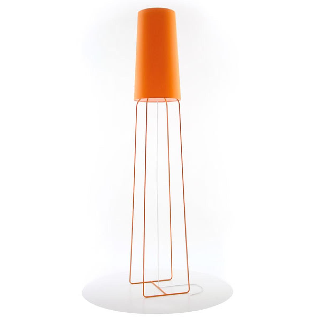 stehleuchte orange stehlampe mit lampenschirm orange. Black Bedroom Furniture Sets. Home Design Ideas