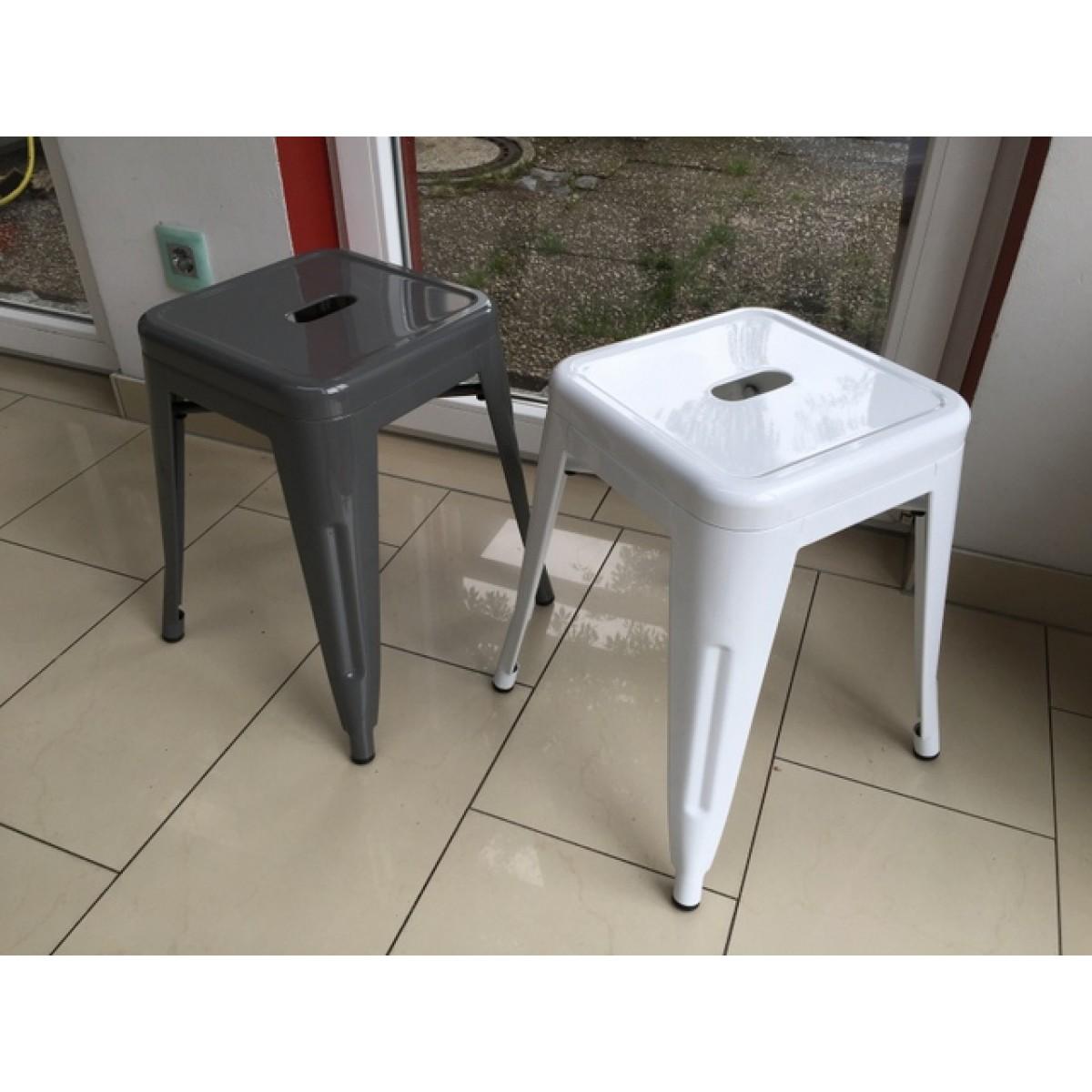 hocker metall grau im industriedesign metall hocker grau. Black Bedroom Furniture Sets. Home Design Ideas