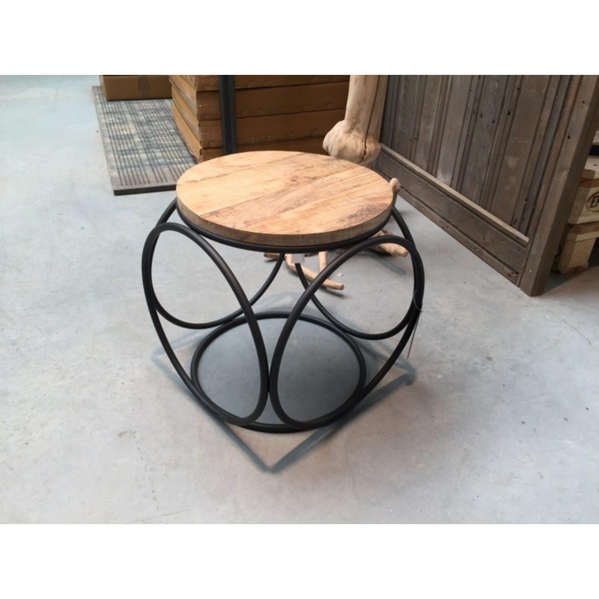 beistelltisch industriedesign metall holz hocker metall. Black Bedroom Furniture Sets. Home Design Ideas