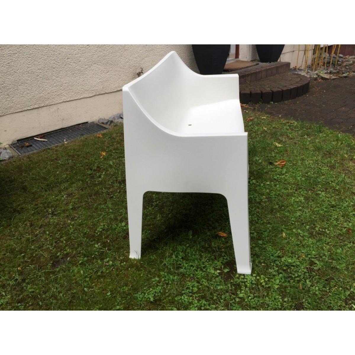 Gartenbank weiß, Sofa Kunststoff, Outdoor- Bank weiß