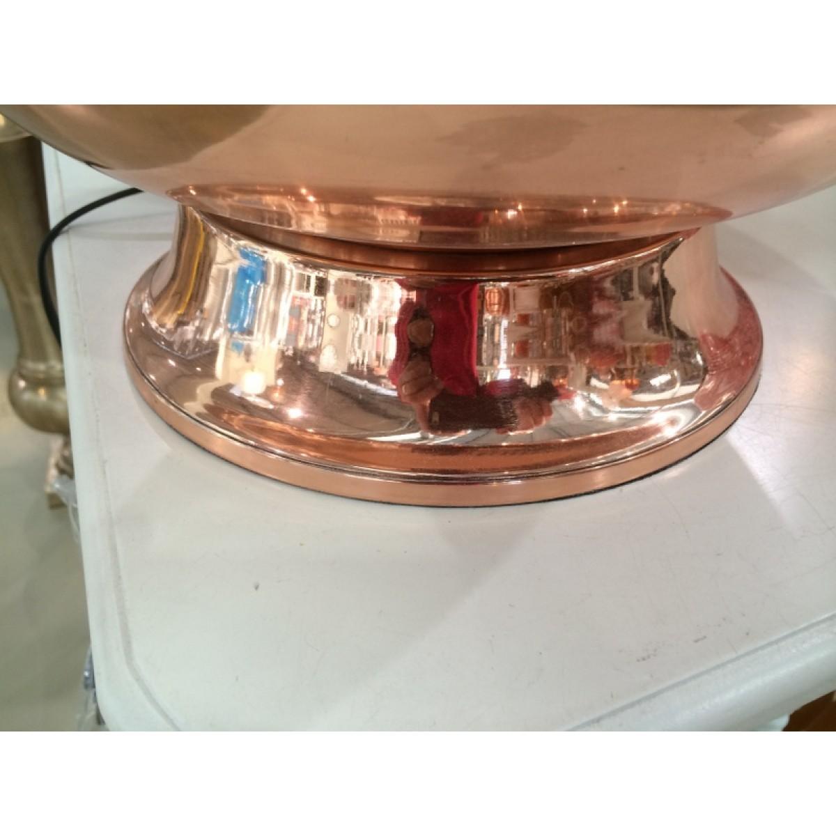 tischlampe farbe kupfer mit lampenschirm wei tischleuchte farbe kupfer h he 80 cm. Black Bedroom Furniture Sets. Home Design Ideas