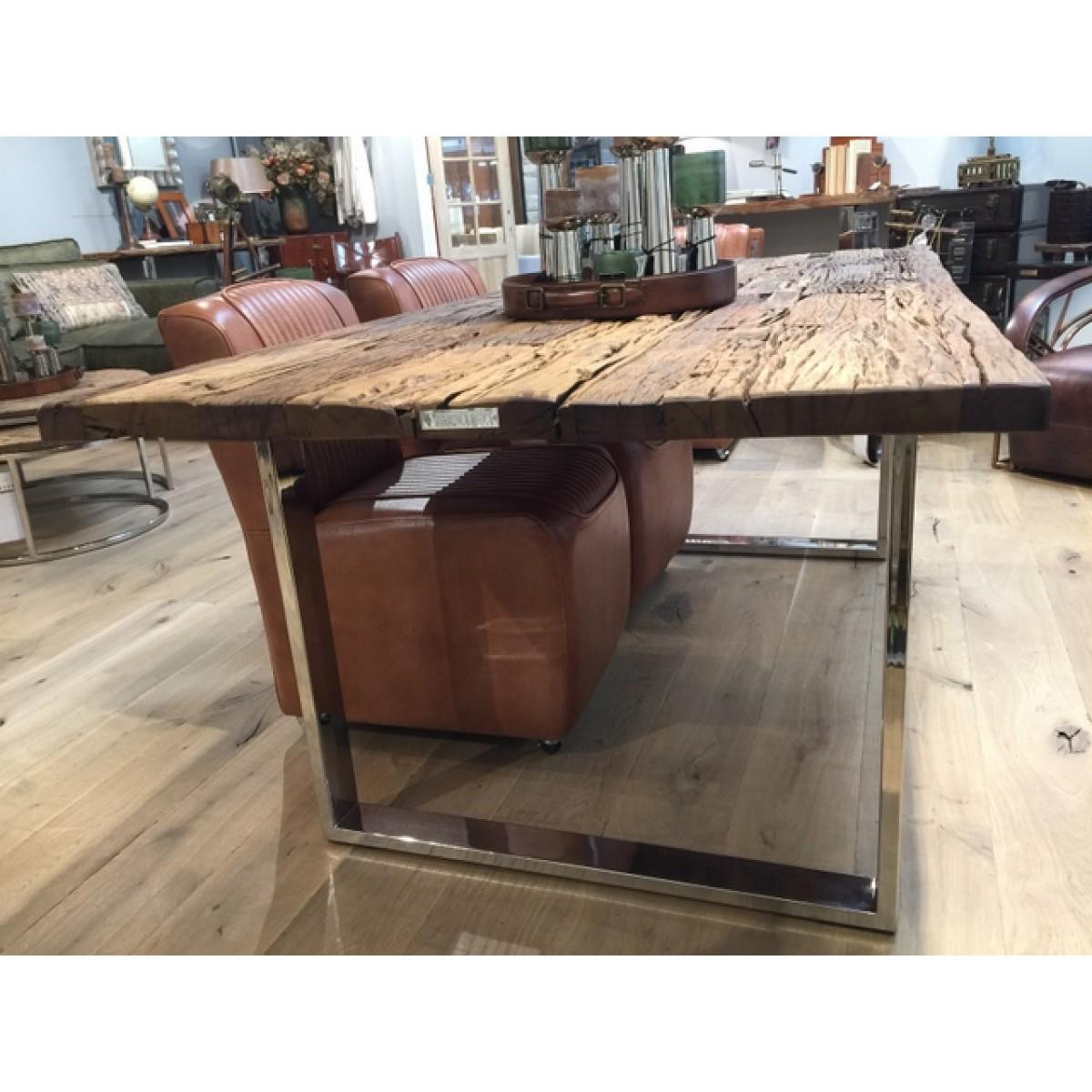 Esstisch Gestell silber Glasplatte, Tisch verchromte Tischbeine