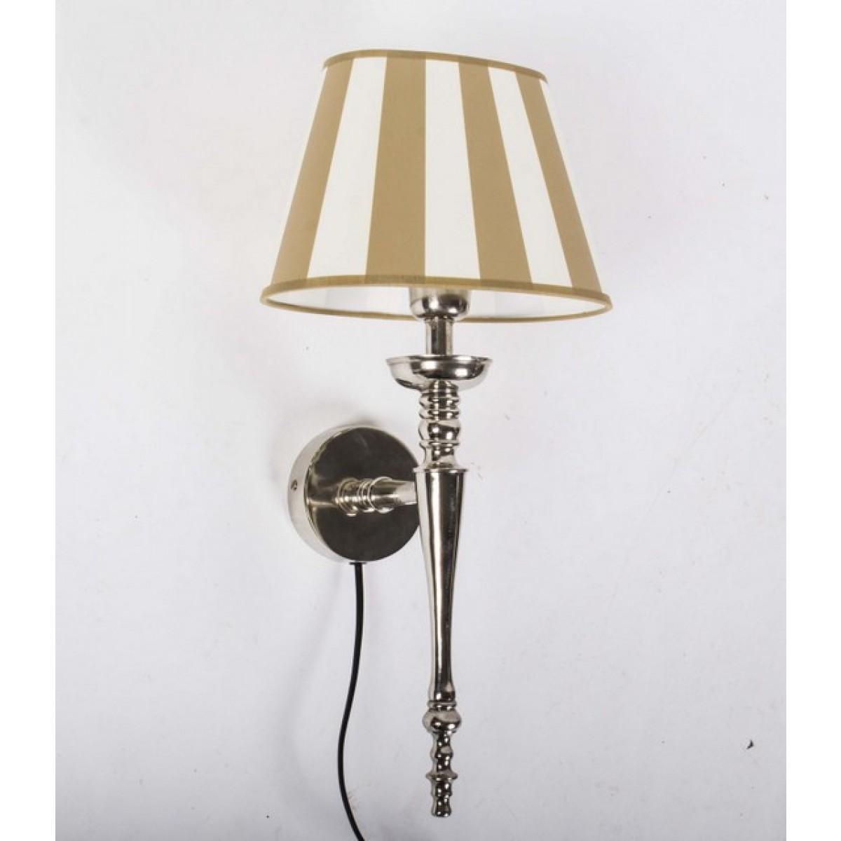 wandleuchte mit lampenschirm beige wei wandlampe silber. Black Bedroom Furniture Sets. Home Design Ideas