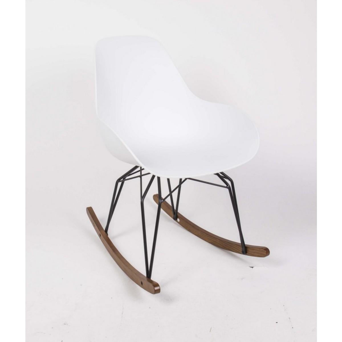 Design schaukelstuhl sessel mit armlehne sitzh he 42 cm for Design schaukelstuhl