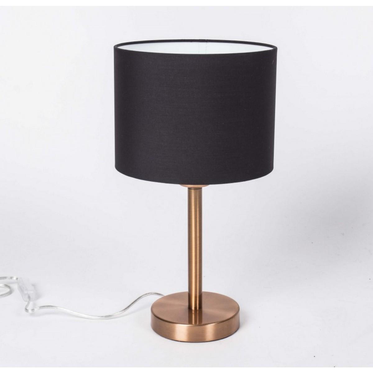 tischleuchte mit lampenschirm schwarz tischlampe farbe. Black Bedroom Furniture Sets. Home Design Ideas