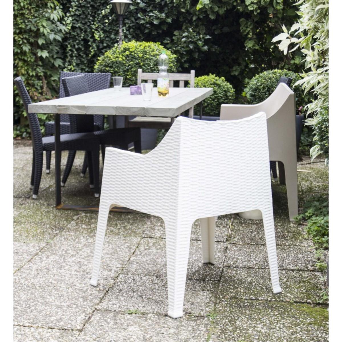 outdoor stuhl wei mit armlehne gartenstuhl wei aus. Black Bedroom Furniture Sets. Home Design Ideas
