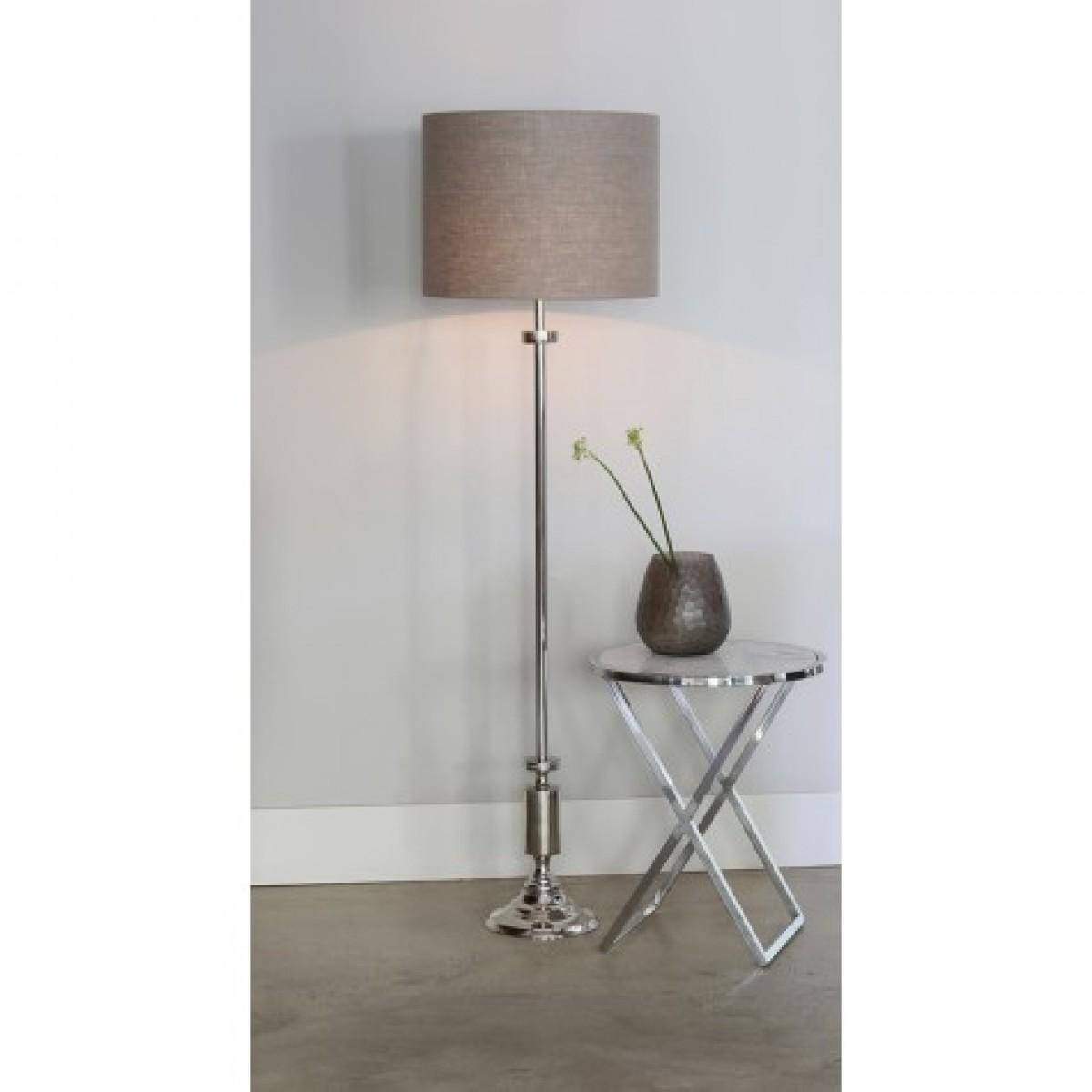 lampenfu silber f r stehlampe stehleuchte verchromt mit lampenschirm h he 140 190 cm. Black Bedroom Furniture Sets. Home Design Ideas