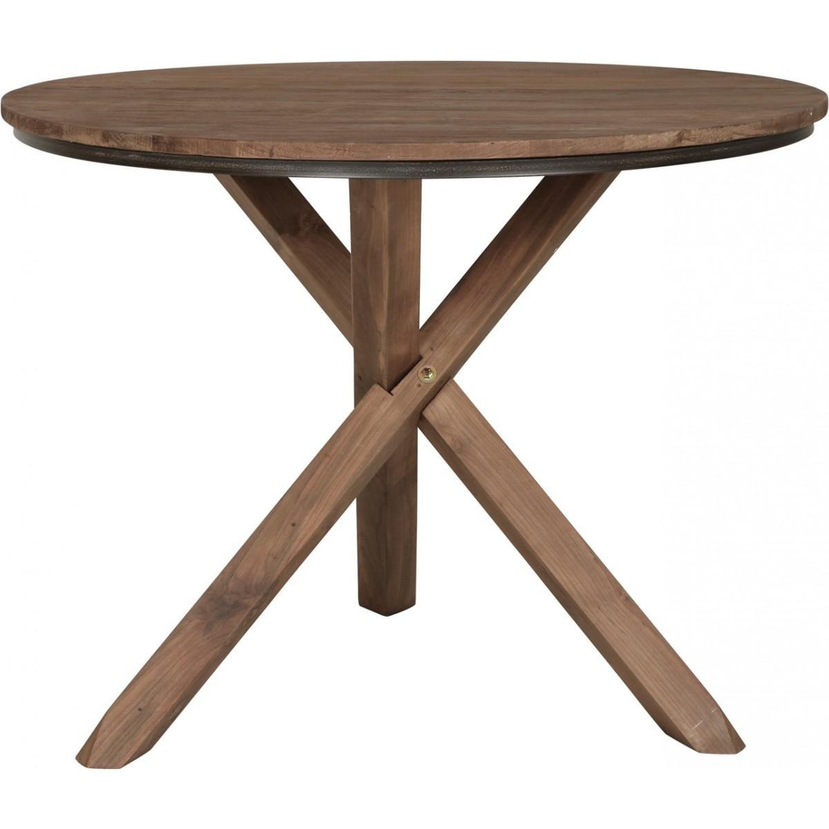 Runder tisch holz massiv esstisch rund tisch im for Runder esstisch holz