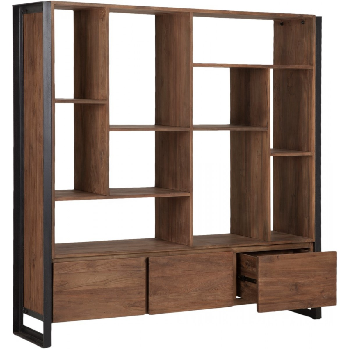 regal industrie b cherregal metall holz breite 150 cm. Black Bedroom Furniture Sets. Home Design Ideas