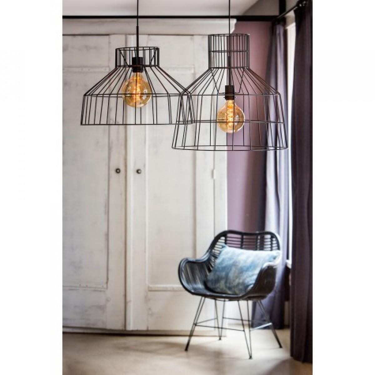 pendelleuchte schwarz metall pendellampe draht metall. Black Bedroom Furniture Sets. Home Design Ideas