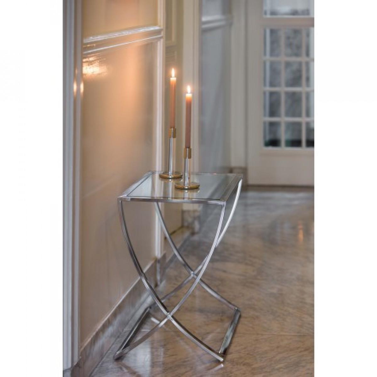 wandtisch silber glas metall verchromt konsole verchromt glas ma e 120x40 cm sideboards. Black Bedroom Furniture Sets. Home Design Ideas