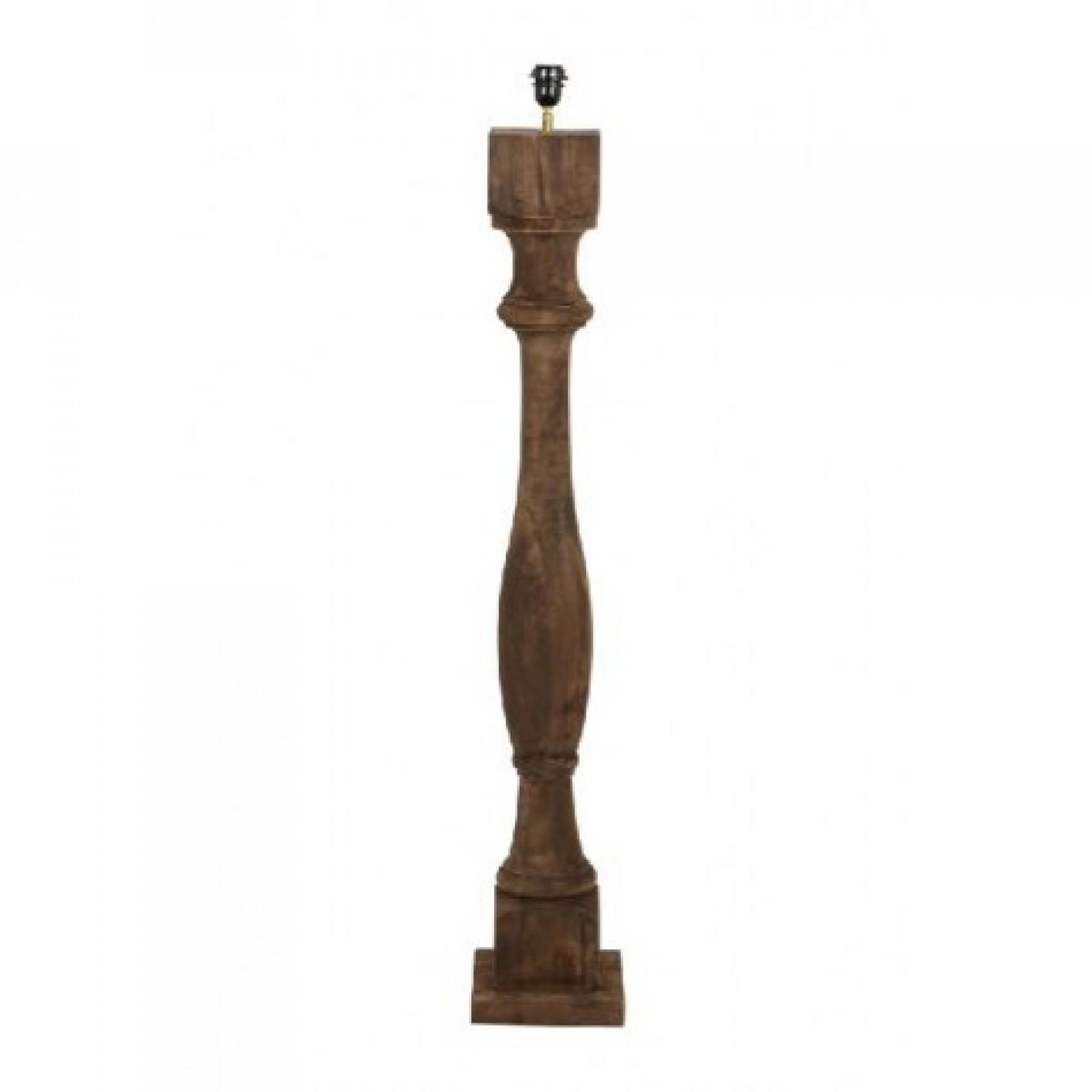 lampenfu braun f r eine stehlampe lampenfu stehleuchte braun aus holz h he 125 cm. Black Bedroom Furniture Sets. Home Design Ideas