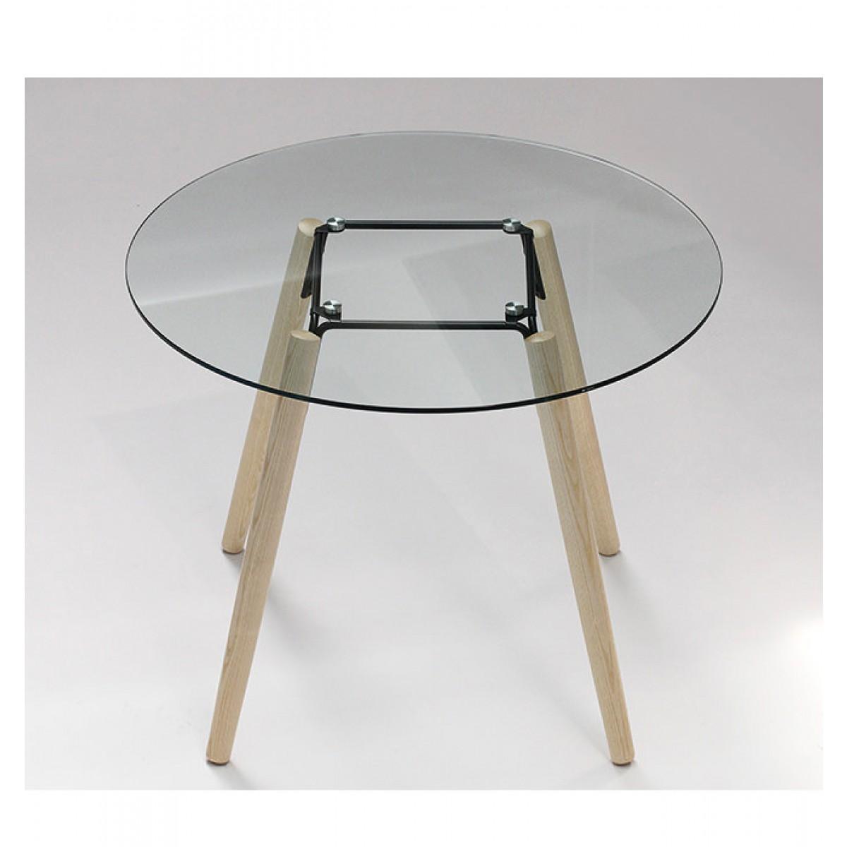 tisch rund glas tischplatte esstisch rund glas tisch tischplatte glas durchmesser 100 cm. Black Bedroom Furniture Sets. Home Design Ideas