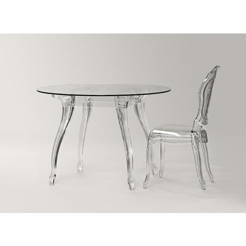Esstisch glas rund  Tisch rund Glas und Policarbonat, Esstisch rund Barock ...