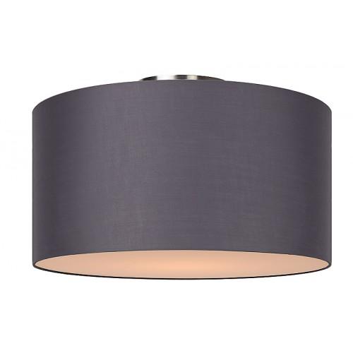 deckenleuchte rund grau deckenlampe grau lampenschirm durchmesser 45 cm. Black Bedroom Furniture Sets. Home Design Ideas