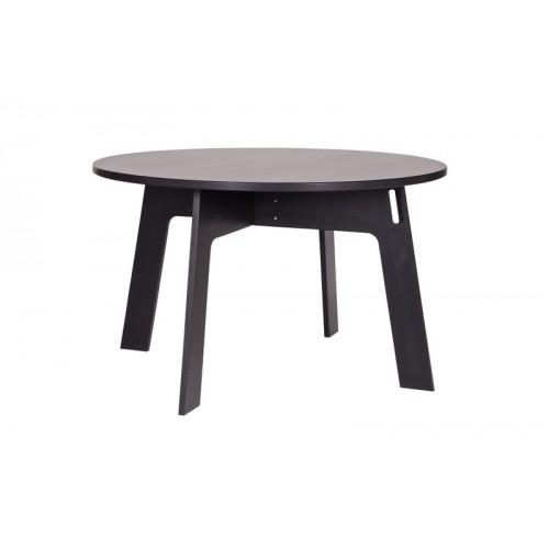 tisch schwarz rund massivholz esstisch rund schwarz. Black Bedroom Furniture Sets. Home Design Ideas