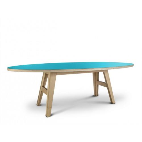 ovaler design tisch farbe t rkis. Black Bedroom Furniture Sets. Home Design Ideas