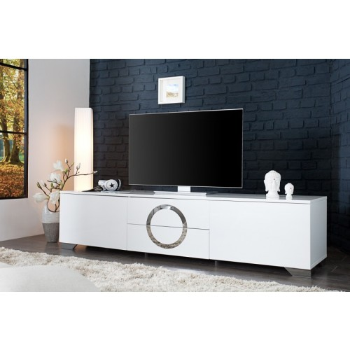 Tv schrank weiß hochglanz  TV Schrank weiß hochglanz, Lowboard weiß-hochglanz, Breite 180 cm