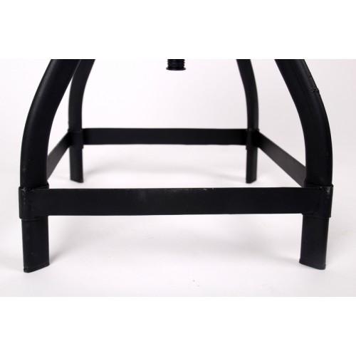 barhocker aus massivholz im industriedesign sitzh he ca 48 70 cm. Black Bedroom Furniture Sets. Home Design Ideas