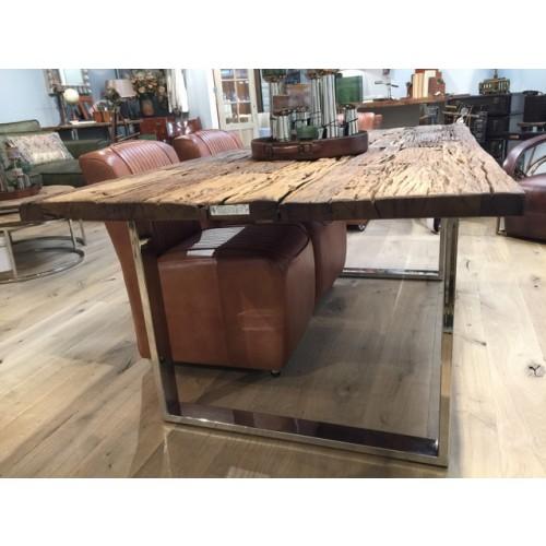 esstisch gestell silber glasplatte tisch verchromte tischbeine ma e 200 x 100 cm. Black Bedroom Furniture Sets. Home Design Ideas