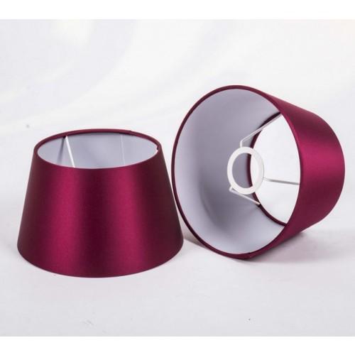 wandleuchte verchromt farbe silber wandlampe mit lampenschirm rot glanz. Black Bedroom Furniture Sets. Home Design Ideas