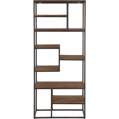 regal industrie b cherregal metall holz breite 80 cm. Black Bedroom Furniture Sets. Home Design Ideas
