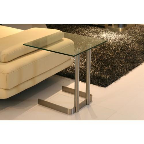 Beistelltisch glas edelstahl beistelltisch glasplatte metallgestell beistelltische for Beistelltisch glas edelstahl