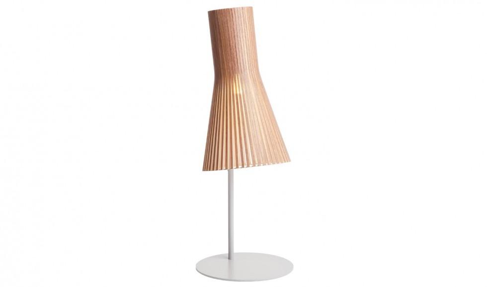 Design Tischleuche aus Birkenholz in vier Farben