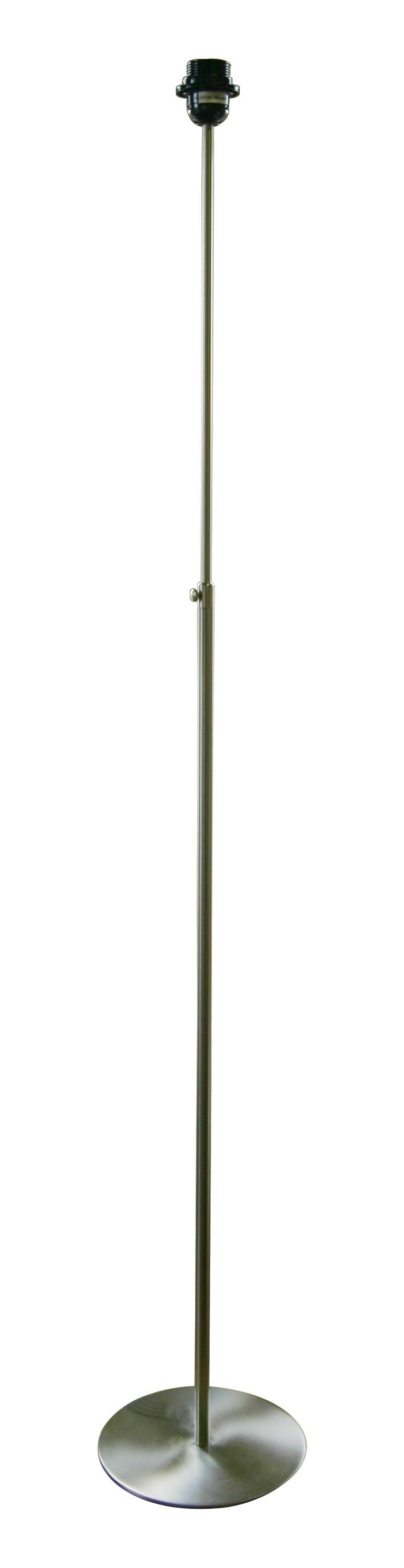 Lampenfuß für eine Stehleuchte, Edelstahloptik, Höhe 161 cm