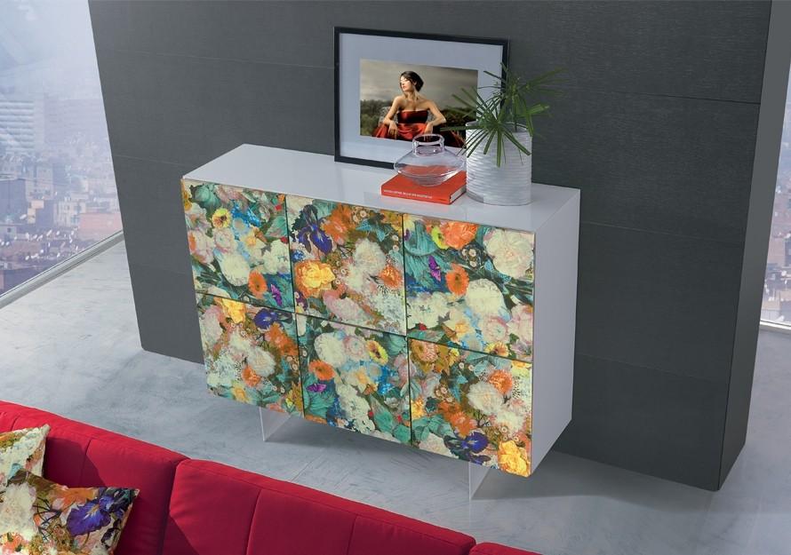 Schrank Artdesign, Highboard Blumen-Front, Breite 152 cm