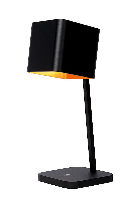 led tischleuchte schwarz gold led tischlampe schwarz gold durchmesser 15 cm. Black Bedroom Furniture Sets. Home Design Ideas