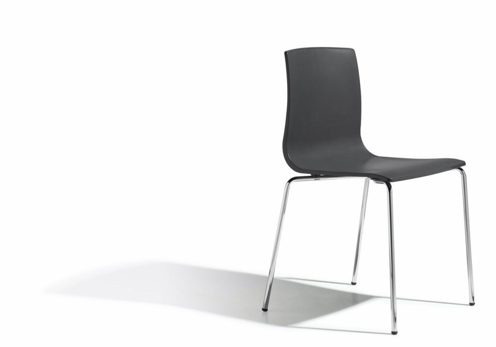 Design Stuhl, Farbe anthrazit, stapelbar